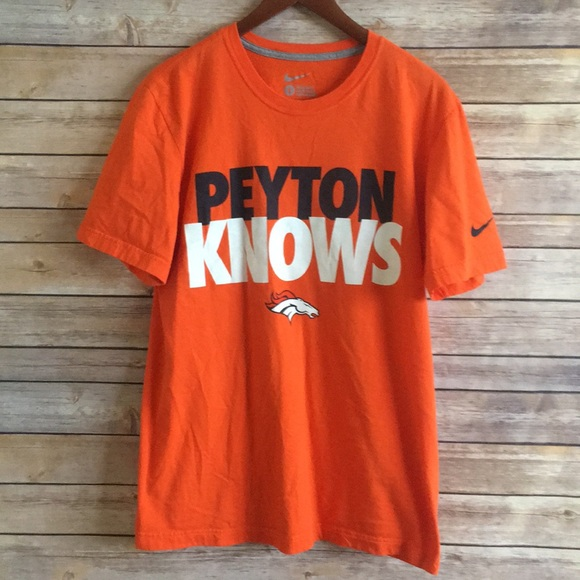 various colors buy classic style Nike NFL Peyton Knows Tee
